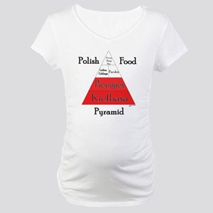 Polish Food Pyramid Maternity T-Shirt