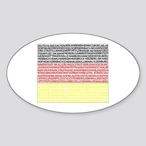 German Cities Flag Sticker (Oval)