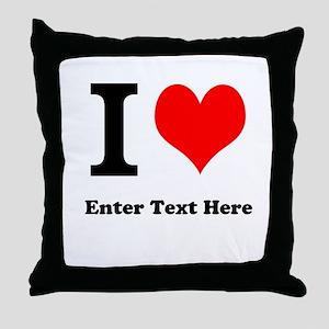 I love... Throw Pillow