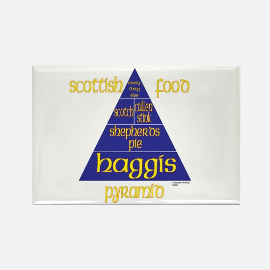 Scottish Food Pyramid Rectangle Magnet