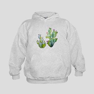 Blooming Watercolor Prickly Pear Cactus Sweatshirt