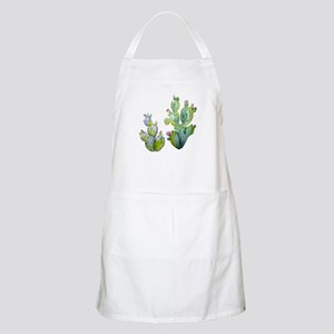 Blooming Watercolor Prickly Pear Cactu Light Apron