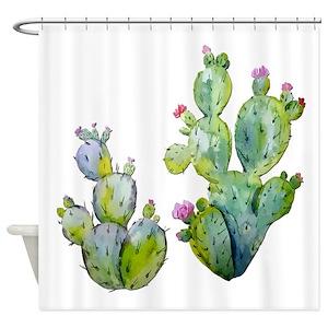 Succulent Shower Curtains