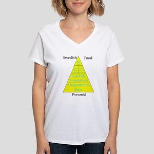 Swedish Food Pyramid Women's V-Neck T-Shirt