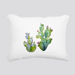 Blooming Watercolor Pric Rectangular Canvas Pillow