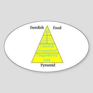 Swedish Food Pyramid Sticker (Oval)