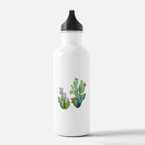 Blooming Watercolor Pr Sports Water Bottle