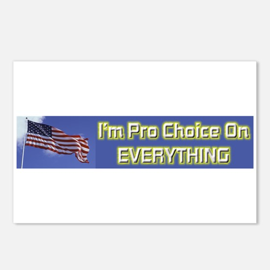 I'm Pro Choice Postcards (Package of 8)