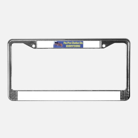I'm Pro Choice License Plate Frame