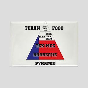 Texan Food Pyramid Rectangle Magnet
