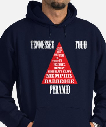 Tennessee Food Pyramid Hoodie (dark)