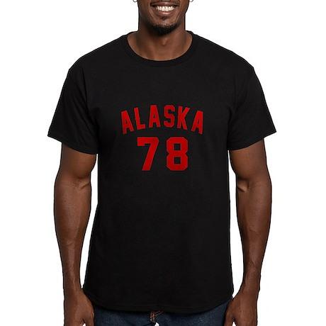 Alaska 78 Birthday Des Men's Fitted T-Shirt (dark)