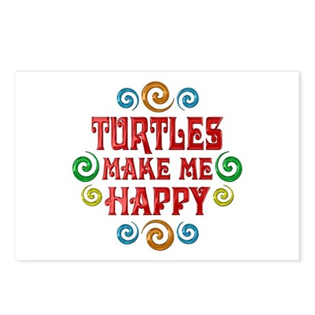 Turtle Happiness Postcards (Package of 8)