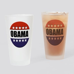 Obama red white and blue Pint Glass