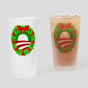 Barack Obama Christmas Wreath Pint Glass