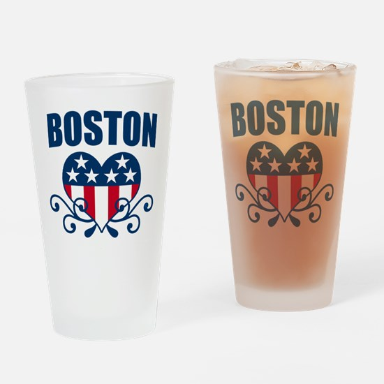 Boston Stars and Stripes Hea Pint Glass