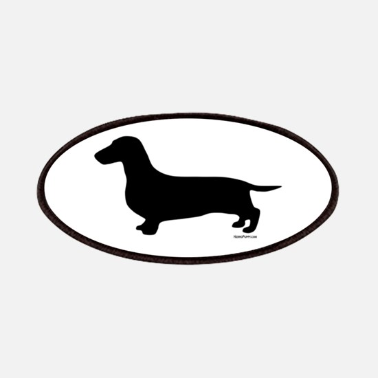 Dachshund Silhouette Patches