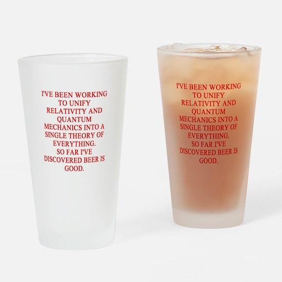 Physics Joke Pint Drinking Glass