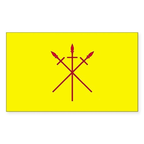 Red Spears Populace Badge Sticker (Rectangle)