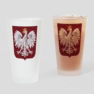 Polish Eagle Plaid Crest Pint Glass