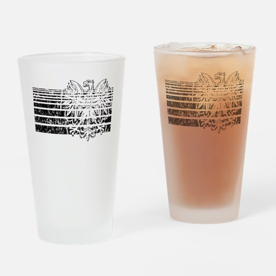 Polish Eagle Stripes Pint Glass