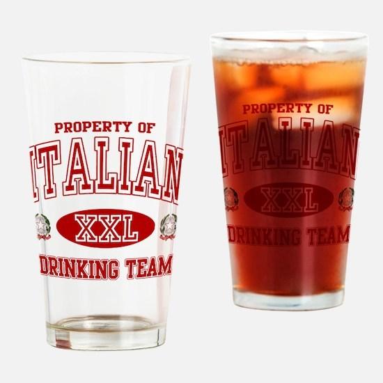 Italian Drinking Team Pint Glass