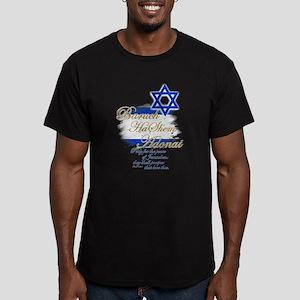 Baruch HaShem Adonai - Men's Fitted T-Shirt (dark)