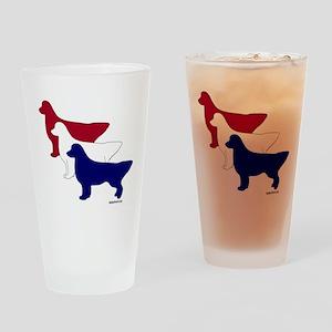 Patriotic Golden Retrievers Pint Glass