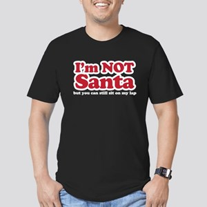I'm not Santa Men's Fitted T-Shirt (dark)