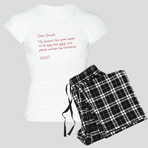 Dear Santa (naughty letter) Women's Light Pajamas