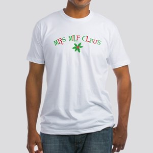 Mrs. MILF Claus Fitted T-Shirt