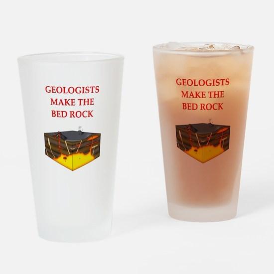 i love geology Pint Glass