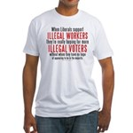 Libs support Illegals because Fitted T-Shirt