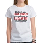 Libs support Illegals because Women's T-Shirt