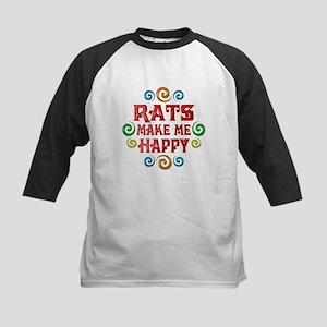 Rat Happiness Kids Baseball Jersey