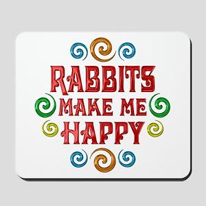 Rabbit Happiness Mousepad