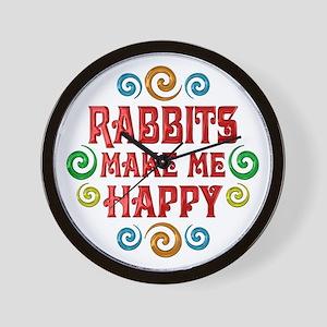 Rabbit Happiness Wall Clock