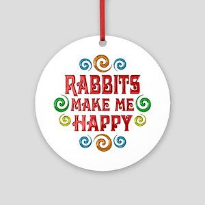 Rabbit Happiness Ornament (Round)