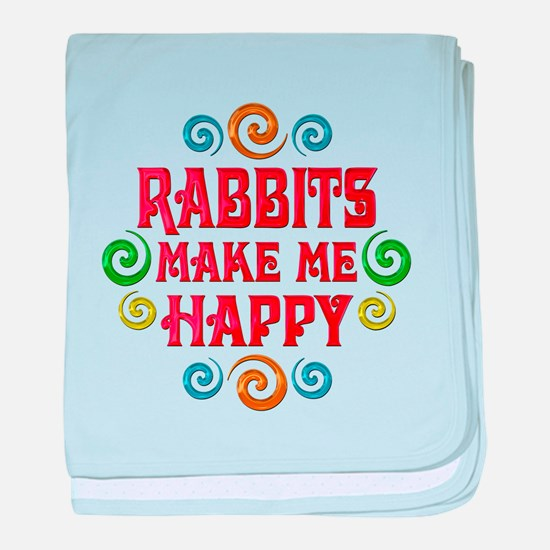 Rabbit Happiness baby blanket