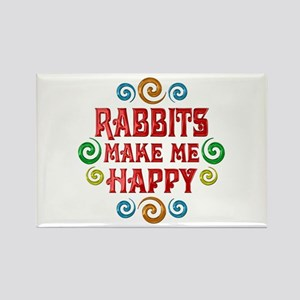 Rabbit Happiness Rectangle Magnet