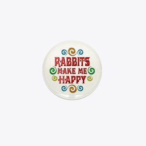 Rabbit Happiness Mini Button
