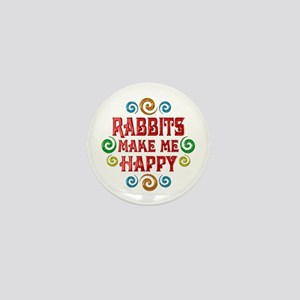 Rabbit Happiness Mini Button
