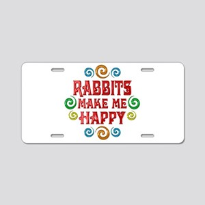 Rabbit Happiness Aluminum License Plate