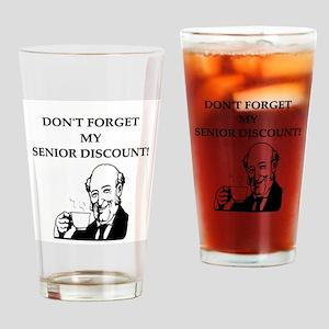 retiree senior citizen Pint Glass