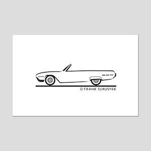 1962 Ford Thunderbird Convertible Mini Poster Prin