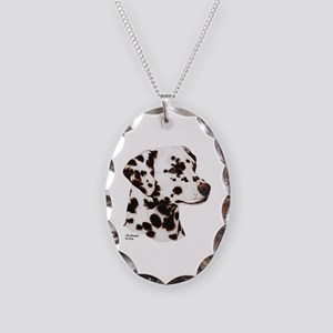 Dalmatian Necklace Oval Charm