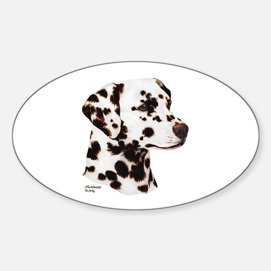 Dalmatian Sticker (Oval)