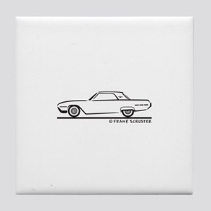 1962 Ford Thunderbird Hard Top Tile Coaster