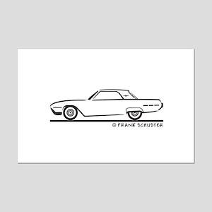 1962 Ford Thunderbird Hard Top Mini Poster Print