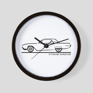 1963 Ford Thunderbird Hard Top Wall Clock